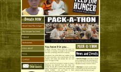 Feed the Hunger - website concept