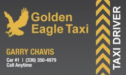 Golden Eagle Taxi Business Card