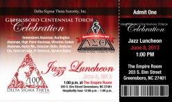 Delta Sigma Theta Sorority Inc. Admission Ticket