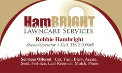 Hambright Lawncare Business Card