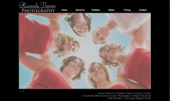 Heavenly Visions Photography - website concept