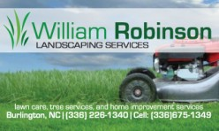 William Robinson Landscaping Business Card