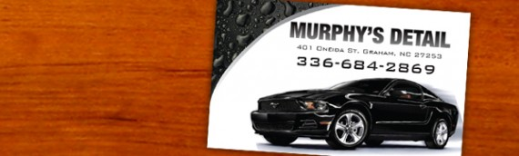 Murphy's Detail hires Digiwork Studio to create Business Cards